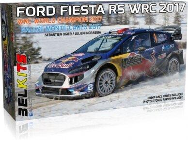 Belkits - Ford Fiesta RS WRC 2017 Rallye Monte-Carlo 2017, Scale:1/24, BEL012