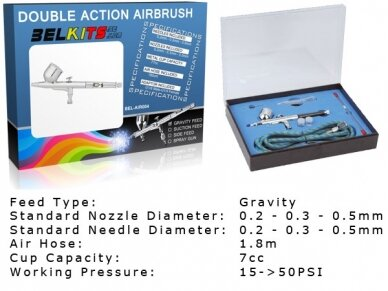 BelKits - Gravity Feed Airbrush Double Action, BEL-AIR004