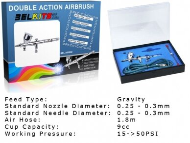 BelKits - Gravity Feed - Double Action Airbrush BEL-AIR002