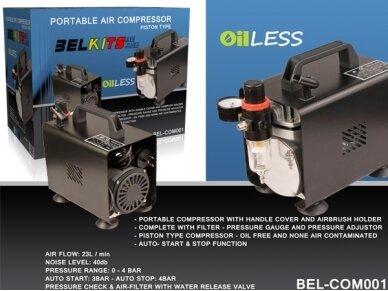 BelKits - Nešiojamas kompresorius BEL-COM001