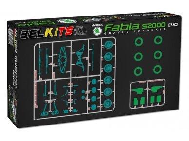 Belkits - Konversija į žvyro versiją Skoda Fabia S2000 EVO, Mastelis:1/24, BELTK002