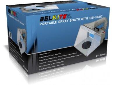 BelKits - Nešiojama dažymo kamera su LED pašvietimu, BEL-AIRSB002