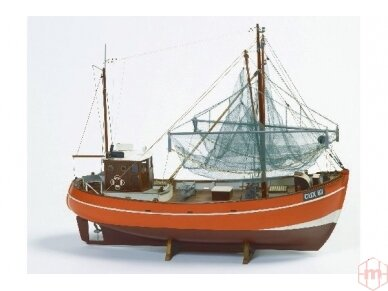Billing Boats - CUX 87 (Krabbenkutter) - Medinis korpusas, Mastelis: 1/33, BB474