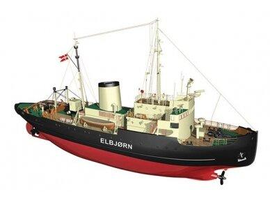 Billing Boats - Elbjørn Icebreaker - Medinis korpusas, Mastelis: 1/75, BB536