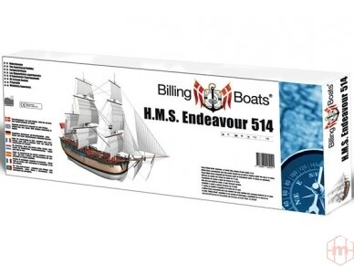 Billing Boats - HMS Endeavour - Medinis korpusas, Mastelis: 1/50, BB514