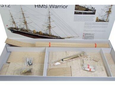 Billing Boats - HMS Warrior - Medinis korpusas, Mastelis: 1/100, BB512 2