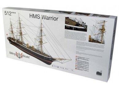 Billing Boats - HMS Warrior - Medinis korpusas, Mastelis: 1/100, BB512