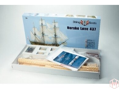 Billing Boats - Norske Love - Medinis korpusas, Mastelis: 1/75, BB437 2