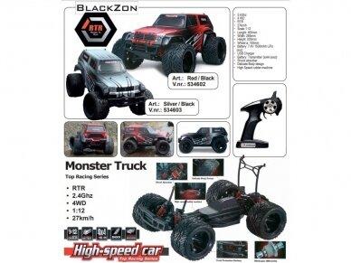 Blackzon - Monster Truck, Mastelis: 1/12, 534600 2