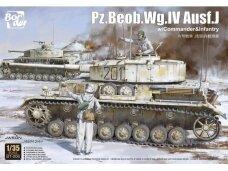 Border Model - Pz.Beob.Wg. IV Ausf. J w/Commander&Infantry, 1/35, BT-006