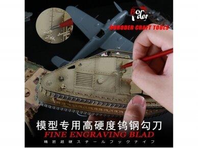 Border Model - Fine Engraving Blade 0,2mm, 0043