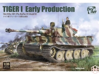 Border Model -TIGER I Early Production Sd.Kfz.181 Pz.Kpfw.VI Ausf.E, 1/35, BT-010