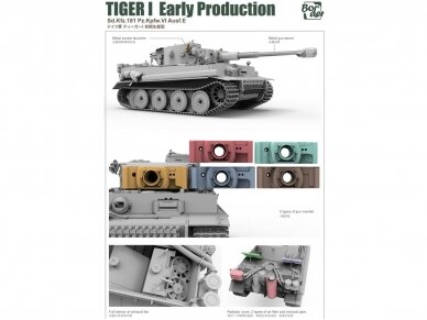 Border Model -TIGER I Early Production Sd.Kfz.181 Pz.Kpfw.VI Ausf.E, 1/35, BT-010 3