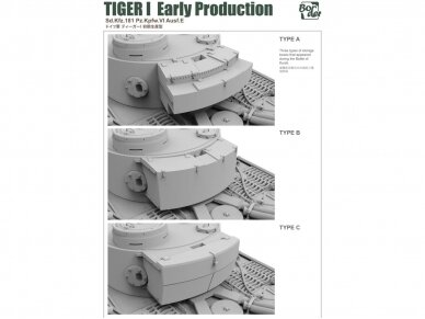 Border Model -TIGER I Early Production Sd.Kfz.181 Pz.Kpfw.VI Ausf.E, 1/35, BT-010 4