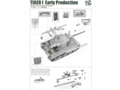 Border Model -TIGER I Early Production Sd.Kfz.181 Pz.Kpfw.VI Ausf.E, 1/35, BT-010 6