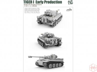 Border Model -TIGER I Early Production Sd.Kfz.181 Pz.Kpfw.VI Ausf.E, 1/35, BT-010 5