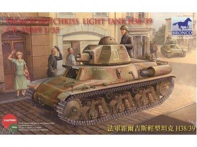 Bronco - French Hotchkiss H38/39 Light tank, Scale: 1/35, 35019