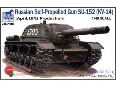 Bronco - Russian Self-Propelled Gun SU-1, Mastelis: 1/48, 48004