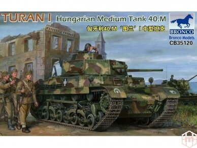 Bronco - Turan I Hungarian Medium Tank 4, Mastelis: 1/35, 35120