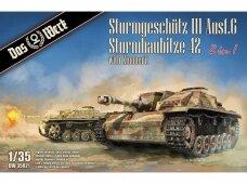 Das Werk - Sturmgeschütz III Ausf.G Sturmhaubitze 42, Mastelis: 1/35, 35021