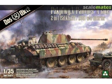 Das Werk - Pz.Kpfw. V Sd.Kfz. 171/268 Panther Ausf. A Late Production w/o Interior, Mastelis: 1/35, 35011