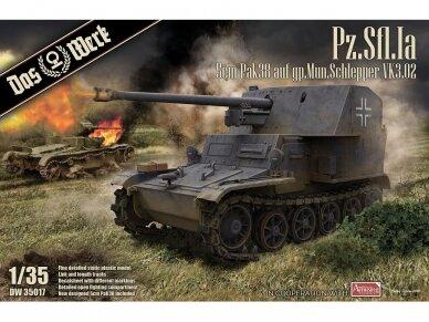 Das Werk - Pz.Sfl. Ia - 5cm Pak 38 auf gp. Mun Schlepper, Scale: 1/35, 35017