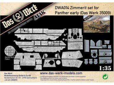 Das Werk - Panther early zimmeritas (Das Werk 35009 modeliui), Mastelis: 1/35, 014