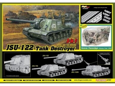 Dragon - JSU-122 vs Panzerjäger (3 in 1) JSU-122, JSU-122S or JSU-152, 1/35, 6787 6