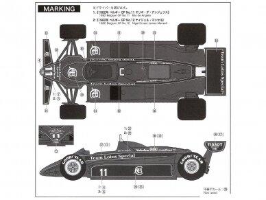 EBBRO - Team Lotus type 91 Belgian GP 1982, Mastelis: 1/20, 20019 7