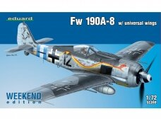 Eduard - Fw 190A-8 w/universal wings, Weekend Edition, Mastelis: 1/72, 7443