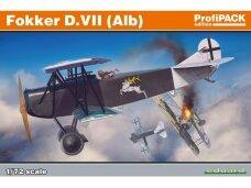 Eduard -  Fokker D.VII(Alb), Profipack, Mastelis: 1/72, 70134