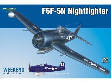 Eduard - F6F-5N Nightfighter, Weekend edition, Mastelis: 1/72, 7434