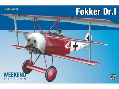 Eduard - Fokker Dr.I, Weekend Edition, Scale: 1/72, 7438
