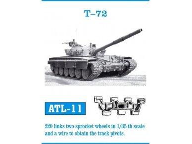 Friulmodel - Metaliniai vikšrai tankui T-72, Mastelis:1/35, ATL-11