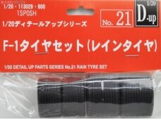 Fujimi - Rain Tyre Set for Formula 1 Car, Mastelis: 1/20, 11302