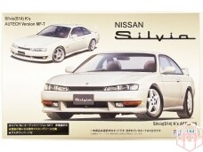 Fujimi - Nissan S14 Silvia K`s Aero `96/Autech Version w/Window Frame Masking, 1/24, 03927