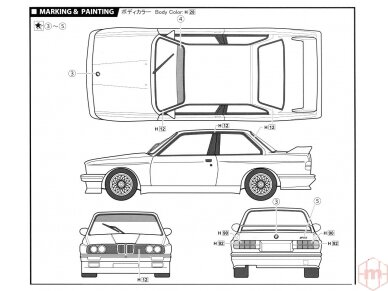 Fujimi - BMW M3 E30, Mastelis: 1/24, 12572 7