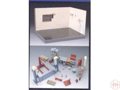 Fujimi - Garažas + Įrankai, Mastelis: 1/24, 11118 2