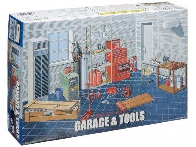 Fujimi - Garažas + Įrankai, Mastelis: 1/24, 11118
