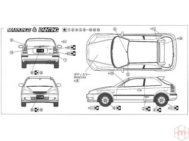 Fujimi - Honda Civic Type R 6gen. Scale: 1/24, 03503 5