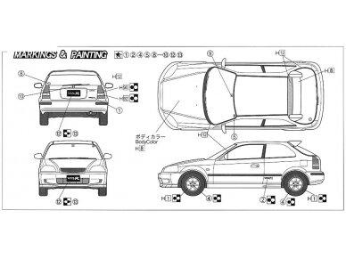 Fujimi - Honda Civic Type R 6gen. Mastelis: 1/24, 03503 5