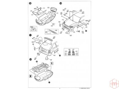Fujimi - Honda Civic Type R 6gen. Mastelis: 1/24, 03503 8