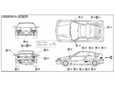 Fujimi - Honda CR-X Si, Scale: 1/24, 04592 5