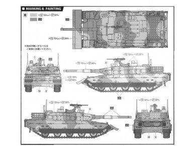 Fujimi - JGSDF Type 10 Main Battle Tank with Dozer, Mastelis: 1/72, 72244 5