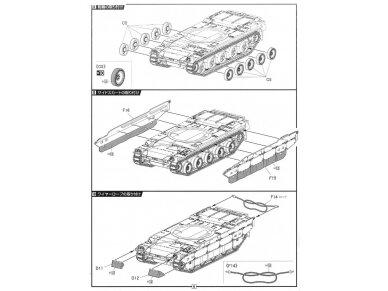 Fujimi - JGSDF Type 10 Main Battle Tank with Dozer, Mastelis: 1/72, 72244 9