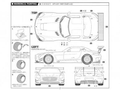 Fujimi - Mercedes Benz SLS AMG GT3, Mastelis: 1/24, 12569 8