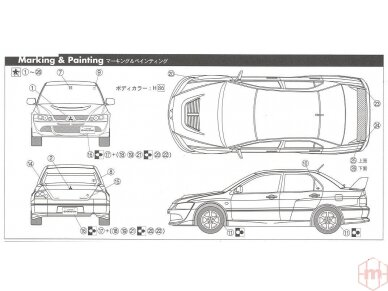 Fujimi - Mitsubishi Lancer Evolution VIII GSR, Mastelis: 1/24, 03924 7