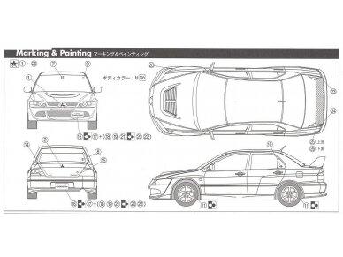 Fujimi - Mitsubishi Lancer Evolution VIII GSR, Scale: 1/24, 03924 7
