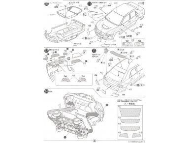 Fujimi - Mitsubishi Lancer Evolution VIII GSR, Scale: 1/24, 03924 10