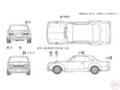 Fujimi - Nissan Skyline 2000 GT-R KPGC10 Full-Works Versija, Mastelis:1/24, 03809 5